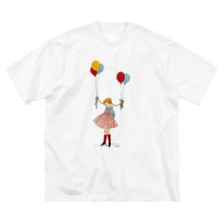 風船 Big silhouette T-shirts