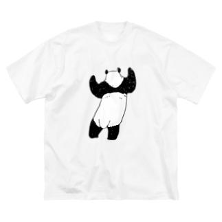 立つパンダ(うしろ) Big Silhouette T-Shirt