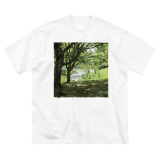 癒しの風景(樹木) Big silhouette T-shirts