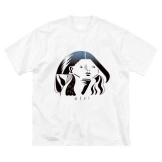 涼しい目の女2 Big silhouette T-shirts