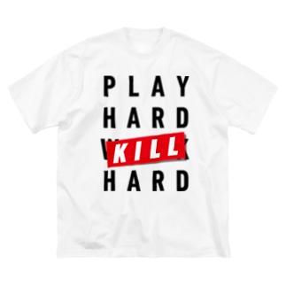 PLAY HARD Big silhouette T-shirts