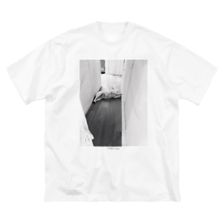 全力とおせんぼ Big silhouette T-shirts
