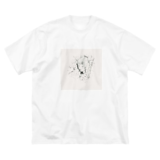 眠り〔sand〕 Big silhouette T-shirts