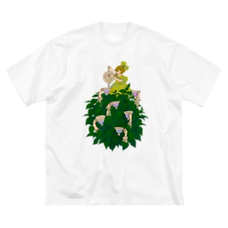 紫陽花 Big silhouette T-shirts