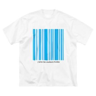 Fractionの寒色が好きなのよ Big silhouette T-shirts