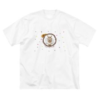 キュートなあんちょびちゃん Big Silhouette T-Shirt