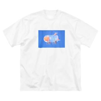 「スペースわん」 Big silhouette T-shirts