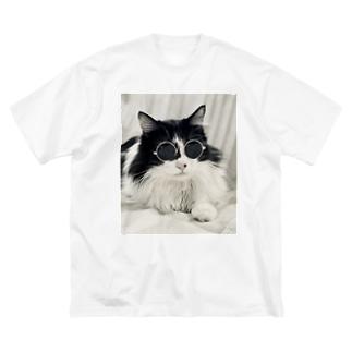 坂東玉隠しシャシャ丸(グラサンVer.) Big silhouette T-shirts