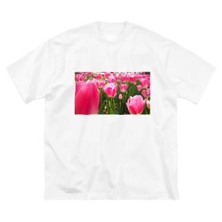 ぴかぴかチューリップ Big silhouette T-shirts