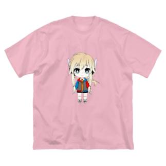 マシこれちゃん!! Big silhouette T-shirts