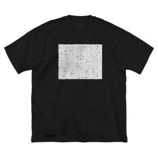 raindropsモノクロ Big silhouette T-shirts