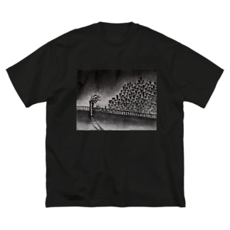 眺める Big silhouette T-shirts