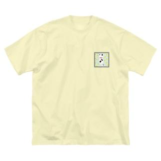 ドットネコ。ハル。 Big silhouette T-shirts