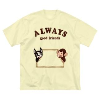 キッズモード某のグッドフレンズ Big silhouette T-shirts