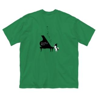 ROBIN D piano Big silhouette T-shirts