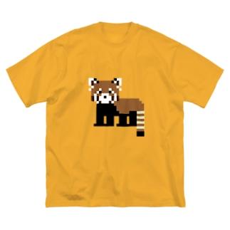 ドットレッサーパンダ Big silhouette T-shirts