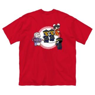 僵尸・跳(キョンシー・ジャンプ) Big silhouette T-shirts