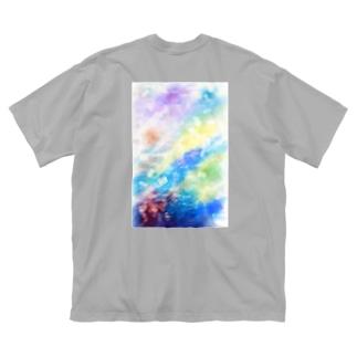 雨の日T(白文字) Big silhouette T-shirts