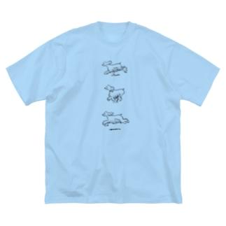 Run Big silhouette T-shirts