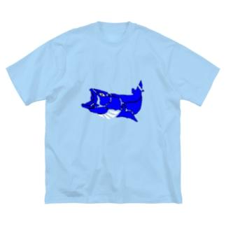 北海道 猿払村長へ。 Big silhouette T-shirts