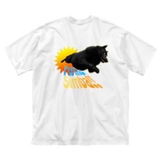 🏕小川ハルのフライングシンバ! Big silhouette T-shirts
