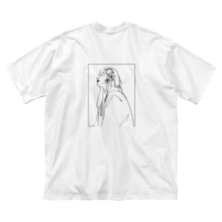 sedum[ロゴ有・両面プリント] Big silhouette T-shirts
