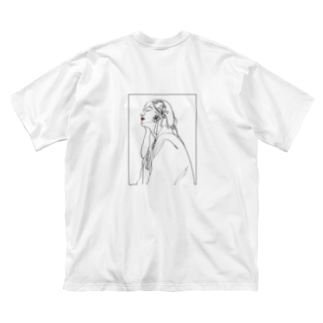 sedum[ロゴ無・バックプリント] Big silhouette T-shirts