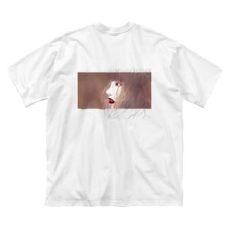 untitle.[バックプリント] Big silhouette T-shirts