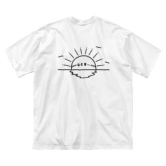 安全第一の日の出、IPPUKUの両面プリント Big silhouette T-shirts
