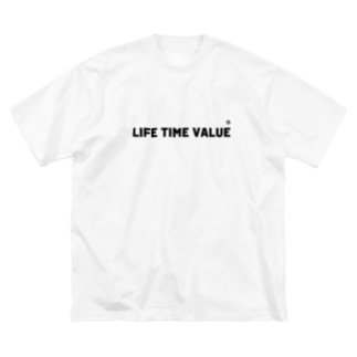 LIFE TIME VALUE Big silhouette T-shirts