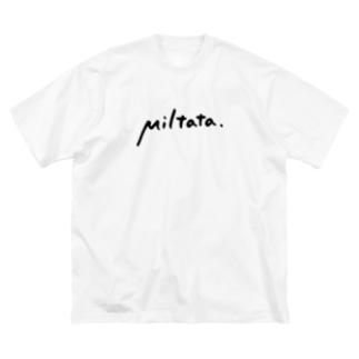 Miltataのロゴ Big silhouette T-shirts