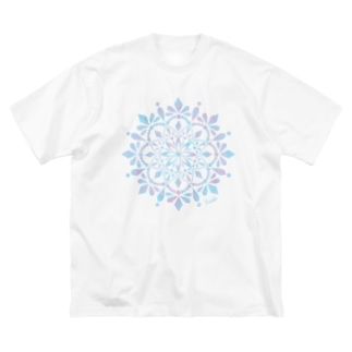 MANDARA-light blue- Big silhouette T-shirts