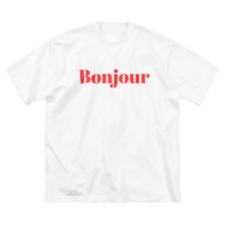 ボンジュールTシャツ Big silhouette T-shirts