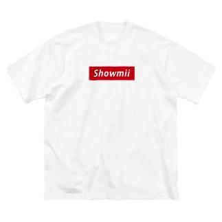 Showmii..ボックスロゴ Big silhouette T-shirts