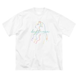 daydream[フロントプリント] Big silhouette T-shirts
