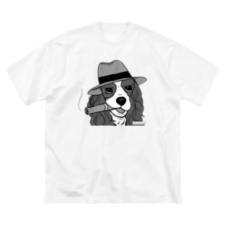 マフィアなキャバちゃん Big silhouette T-shirts