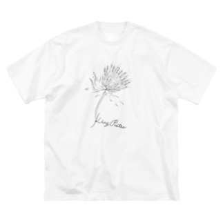 mayapatternの花 Big silhouette T-shirts