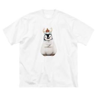 皇帝ペンギン様 (中) Big silhouette T-shirts