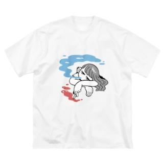 もくもくもんもん Big silhouette T-shirts