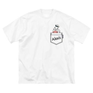 BonBonのポケットからアレクシス Big silhouette T-shirts