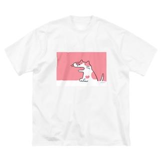 ぶちねこさん Big silhouette T-shirts