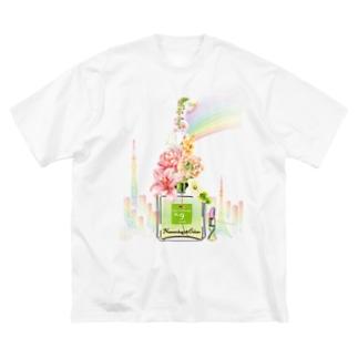 アンドアイデザイン 数秘&カラー🄬オマージュボトルNo9&OLIVE Big silhouette T-shirts