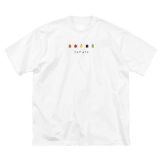 KAWARI_monoのOYASAI_とまと Big Silhouette T-Shirt