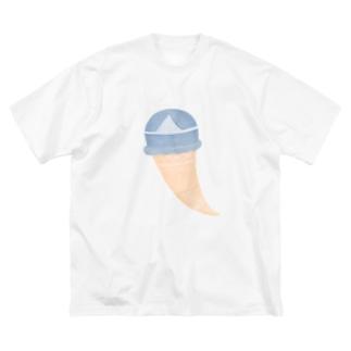 アイスの霊 Big silhouette T-shirts