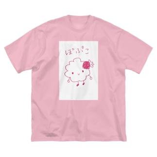 ぽぷこ Big silhouette T-shirts