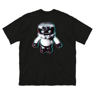 チカチカBURGERMAN  Big silhouette T-shirts