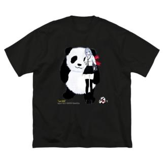 パンダが好きな女の子 ジャイアント Big silhouette T-shirts