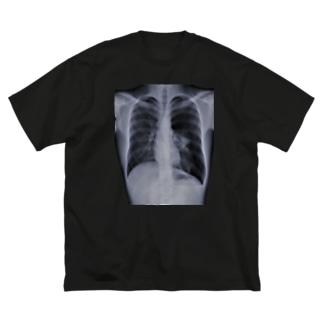 隻肺 Big silhouette T-shirts
