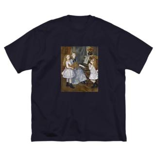 """""""名画"""" ルノワール / カトゥレメンデスの娘たち Big silhouette T-shirts"""