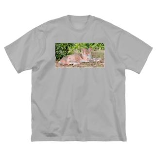 猫 Big silhouette T-shirts